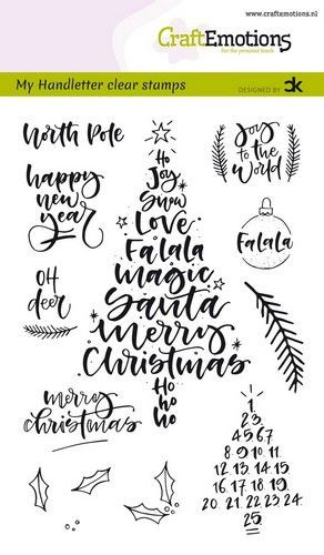 CraftEmotions Clearstempel-Set A 6 Handletter Christmas 1 130501/1818