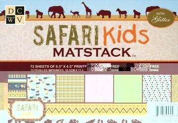 Papierblock Safari Kids Matstack 11,4 x 16,5 cm MS-003-00040