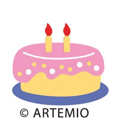 Artemio Happycut Stanzform 5,2 x 5,2 cm Torte # 5/cale # 5 18020004