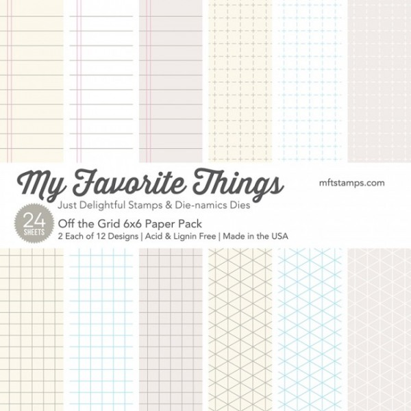 """My Favorite Things Paper Pack 6"""" x 6 """" OFF THE GRID EP-16 ( pastel )"""