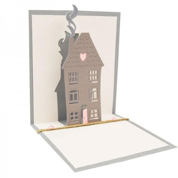 Sizzix Thinlits Stanzform Pop Up Haus / Pop Up House 662574
