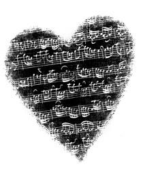 Stempel Herz mit Musiknoten ARTHG367