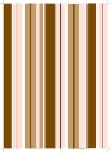 Design-Papier A 4 Streifen braun / rosa 61818