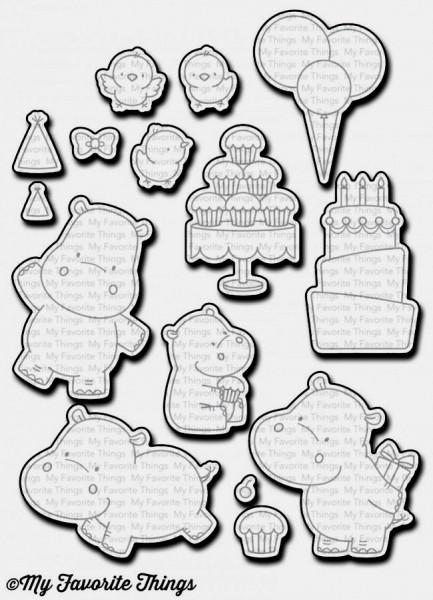 Dienamics Stanzform Nilpferd / Happy Hippos MFT-1136