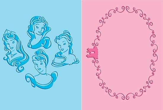 Cuttlebug DISNEY-Prägefolder GROSS 2-er Prinzessinen / Princesses 37-1709