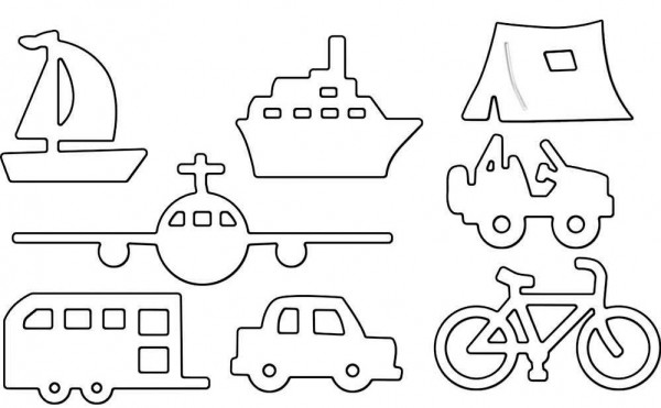 Penny Black Stanzform Boot, Zelt, Flugzeug, Fahrrad , Auto u. Wohnwagen/ Away We Go 51-312
