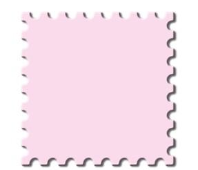 Motivstanzer Jumbo Briefmarke ( rosa ) UR 1946 00 60