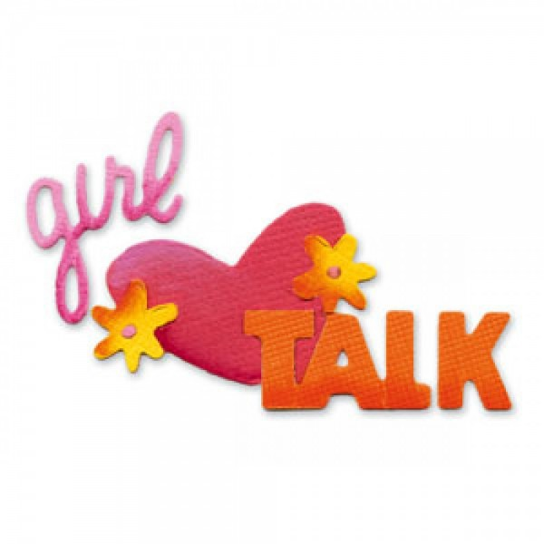 "Sizzix Sizzlits Stanzform SMALL Worte "" Girl talk "" / phrase girl talk 654346"