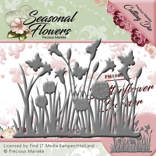 Precious Marieke Stanzform Blumen u. Gras / Butterflower Grass PM10086