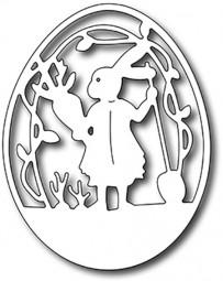 Frantic Stampers Stanzform Ei mit Osterhase / Peter' s Garden Egg FRA-DIE-09384