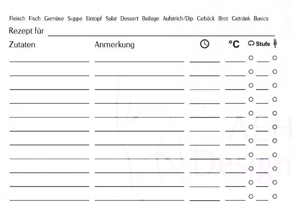 AEH Design Textstempel ' Rezeptkarte ' ( limited Edition ) 1498 L