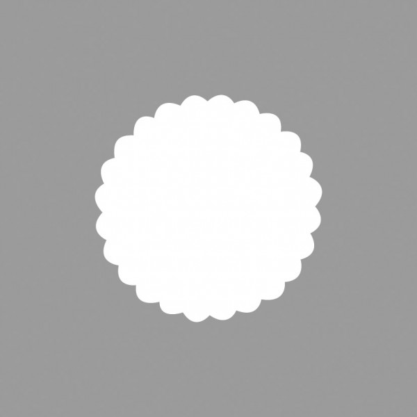 Rayher Motivstanzer Kreis gewellt 3,8 cm 89-641-00 (gelb )