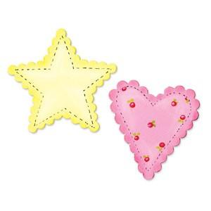Sizzix Stanzform BIGZ Herz u. Stern gewellter Rand / heart & star scallop 655917 / 656375