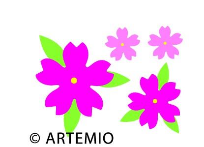 Artemio Happycut Stanzformen 6,8 x11 cm Blume # 11 18023002