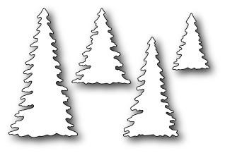 Poppystamps Stanzform Bäume / Evergreen Trees 1119