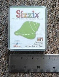 Sizzix Stanzform Original SMALL Muschel # 1 / seashell # 1 38-0202