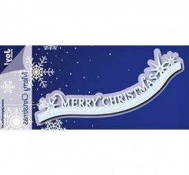Joycrafts Stanzform ' Merry Christmas ' Rand 6002/0938