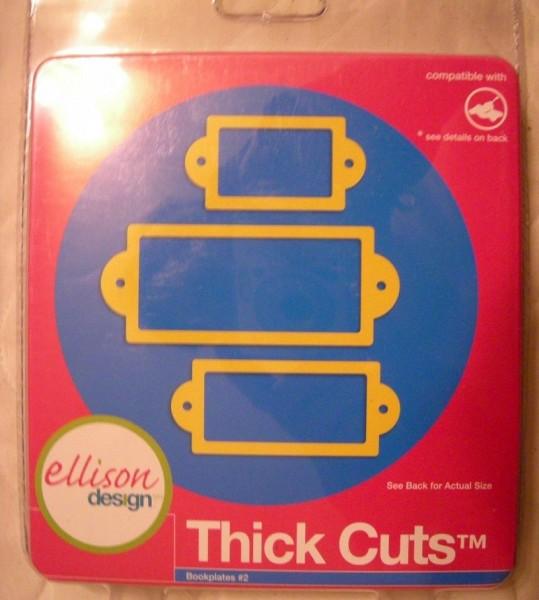 Ellison Design Thick Cuts Stanzform Bookplates # 2 22142
