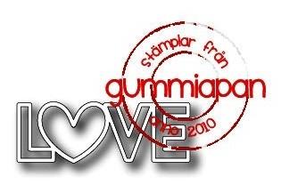 Gummiapan Stanzform ' LOVE ' D180206